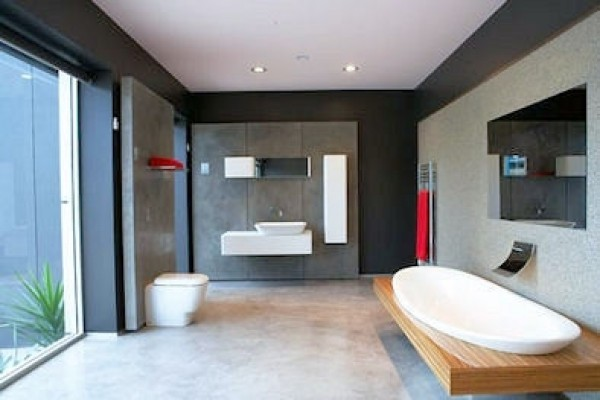 Remodel without Removal modern-bathroom
