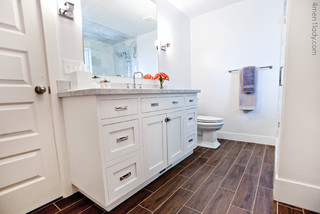 Remodeled Master Bathroom And Closet Traditional