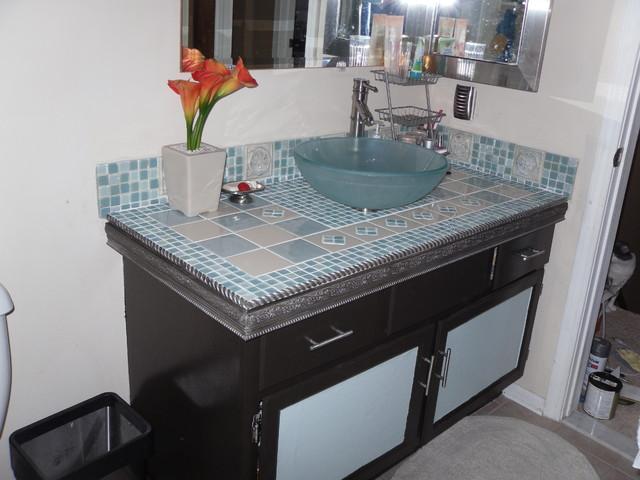 Remodeled Vanity eclectic-bathroom