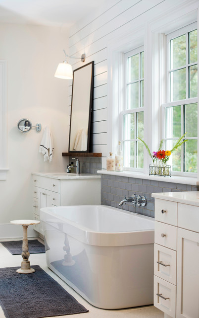 Renewing Old World Charm Farmhouse Bathroom Charlotte By Home Design