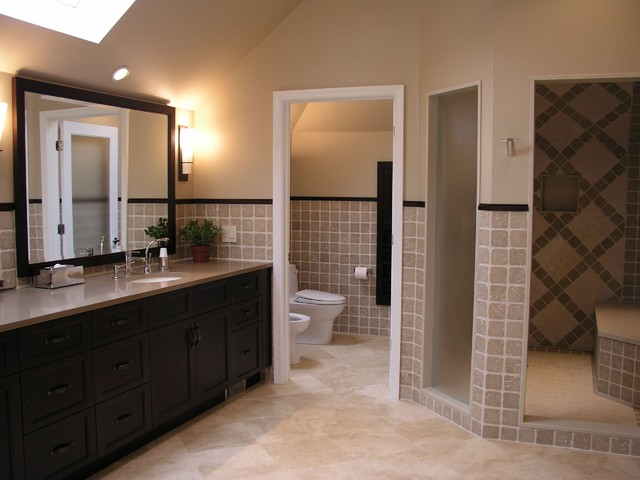 Renovated master bath for Toilet room in master bath