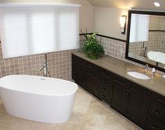 Renovated Master Bath contemporary-bathroom
