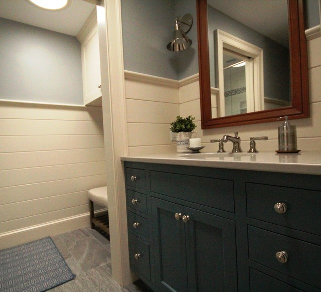 Renovated Ranch Transitional Bathroom Portland Maine By Lisa Morris By Design