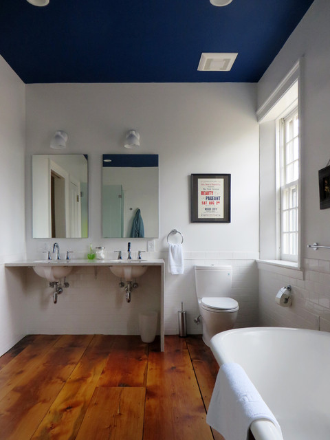 Renovation of a historic residence in north bennington vt for Bathroom ceiling paint ideas
