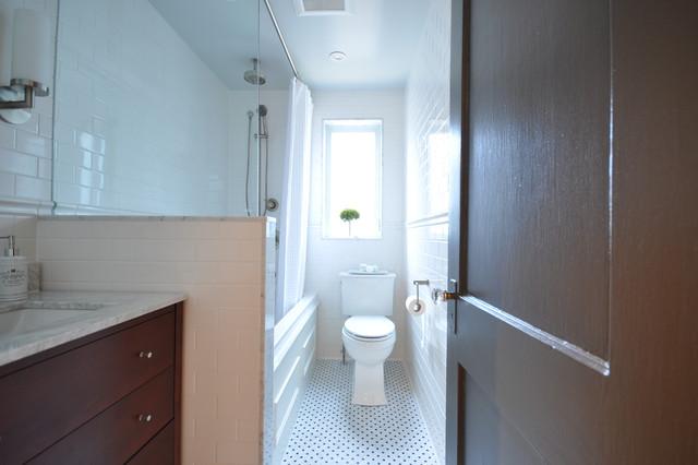 Renovation semi detached house traditional bathroom for Bathroom ideas 7x7