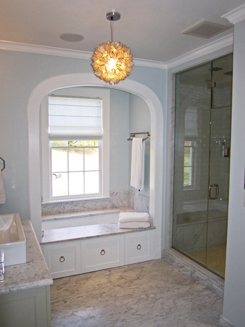 Renovations to a Grand Chappaqua Estate traditional bathroom
