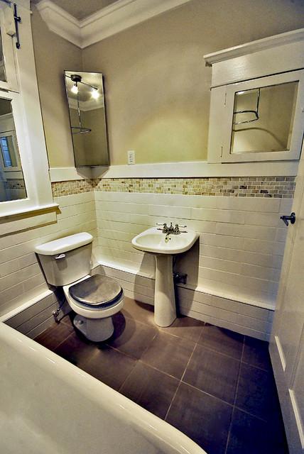 Rental Apartment Renovations traditional-bathroom