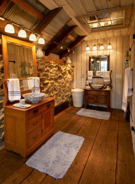 Repurposed tobacco barn honeybrook pa rustic bathroom for Bathroom remodel lancaster pa