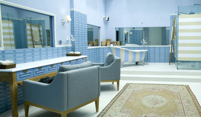 residance for reality show-Israel eclectic-bathroom