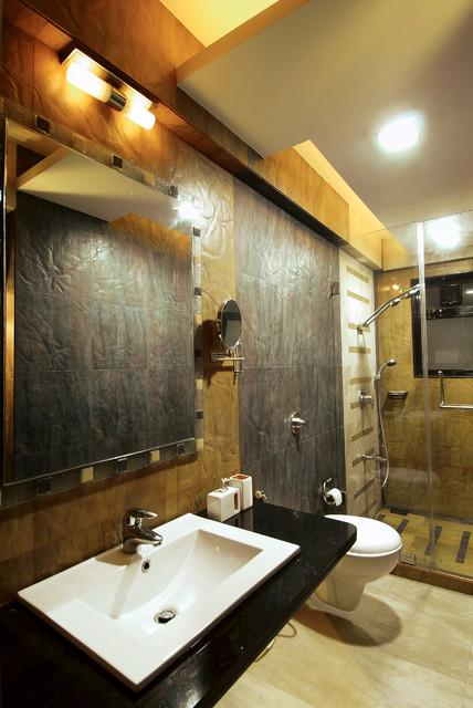 Residence in mumbai contemporary bathroom mumbai for Bathroom designs mumbai