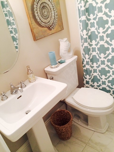Residential bath remodel before after transitional for Residential bathroom remodeling
