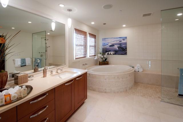 Residential tropical bathroom hawaii by interior for Bath remodel hawaii
