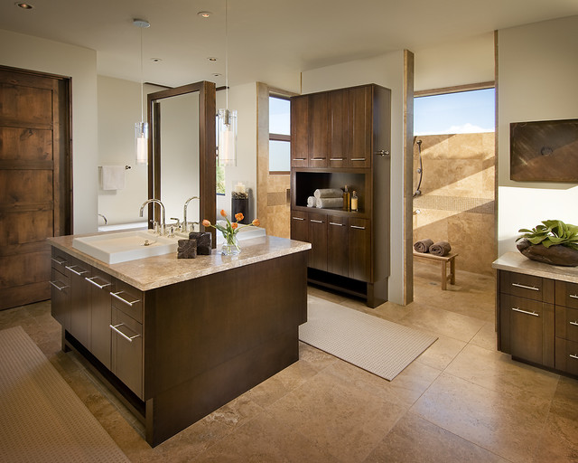 Residential contemporary-bathroom