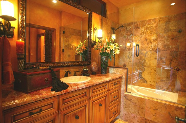 Mediterranean Bathroom Remodels: Residential Spaces