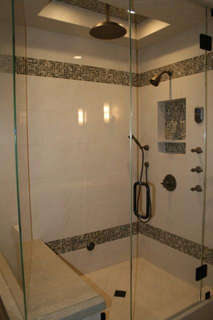Residential Steam Shower Modern Bathroom Orange