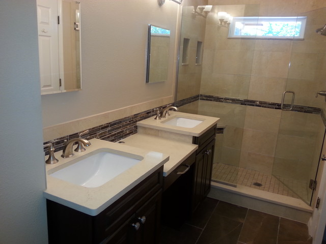 Residential work transitional bathroom jacksonville for Bathroom design jacksonville fl