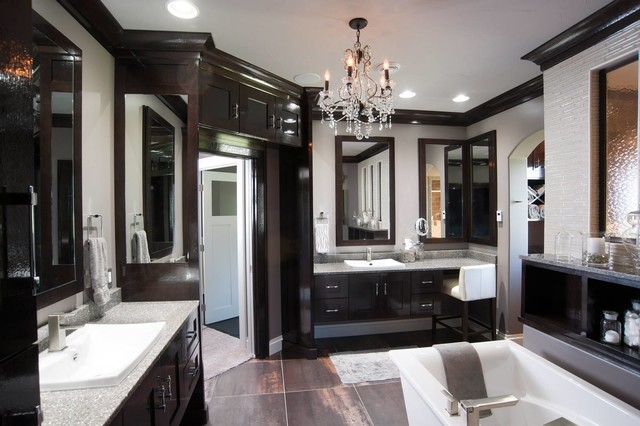 Restoration hardware style home transitional bathroom for Home hardware home designs