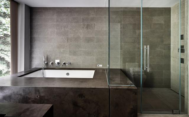 Restored 1969 Modern Glass House Modern Bathroom New York By