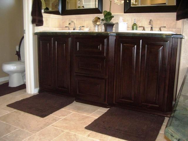 Restroom cabinetry traditional-bathroom