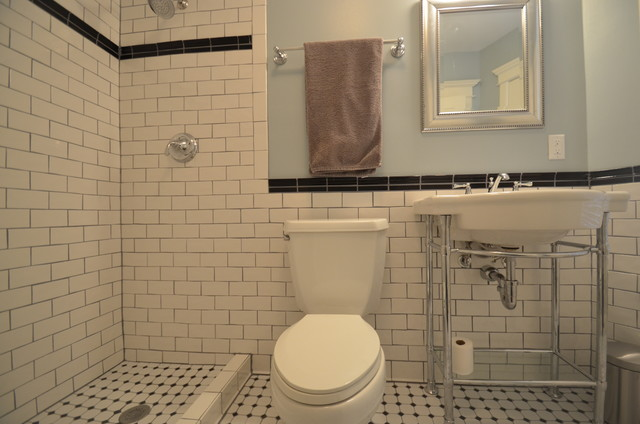 Craftsman Style Subway Bathroom Traditional