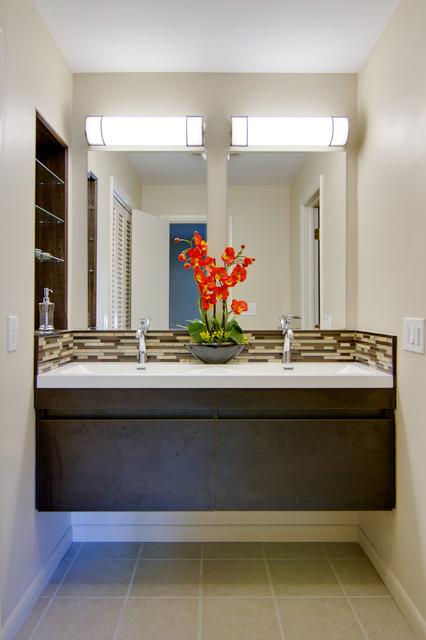 Retro Modern Master Bathroom - Modern - Bathroom - DC Metro - by MODERN RENOVATIONS