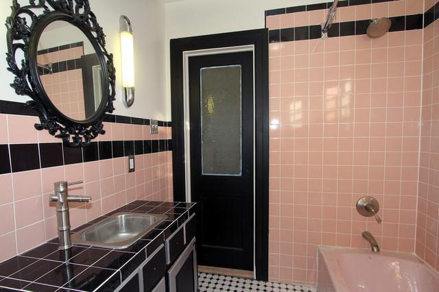 Retro Pink Bathroom Midcentury Bathroom New York