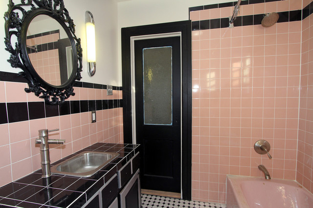 Retro Pink Bathroom Midcentury Bathroom Part 35