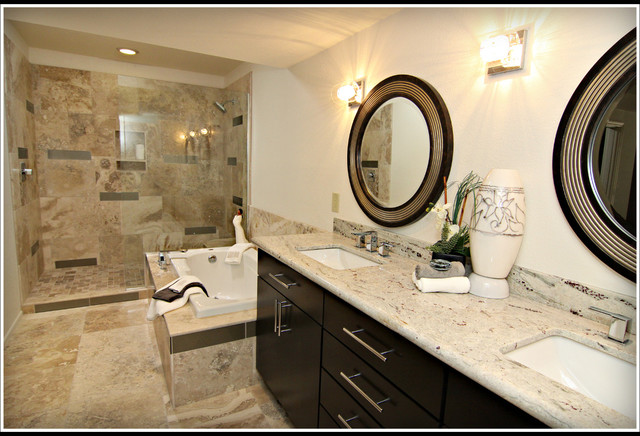 Retro pro remodeled bathrooms for Professional bathroom renovations