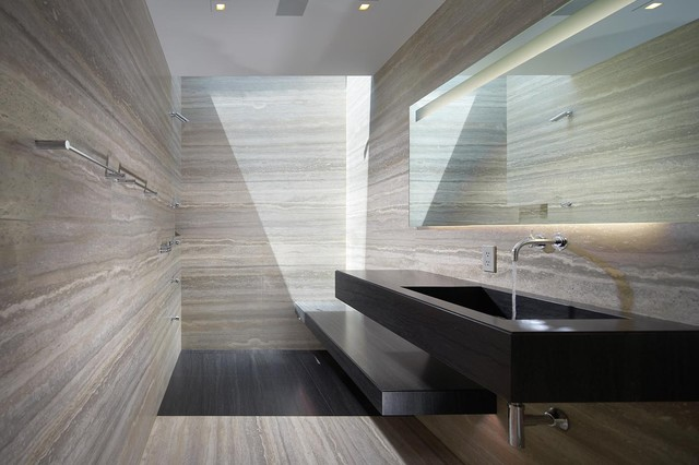Silver Travertine Tile Houzz