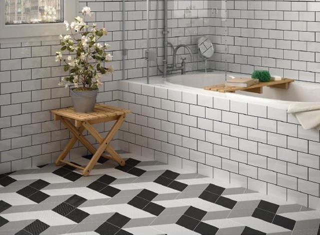 Tile contemporary bathroom toronto by cercan tile inc - Rhombus Mix Series Porcelain Tile 5 5x9 5 Eclectic