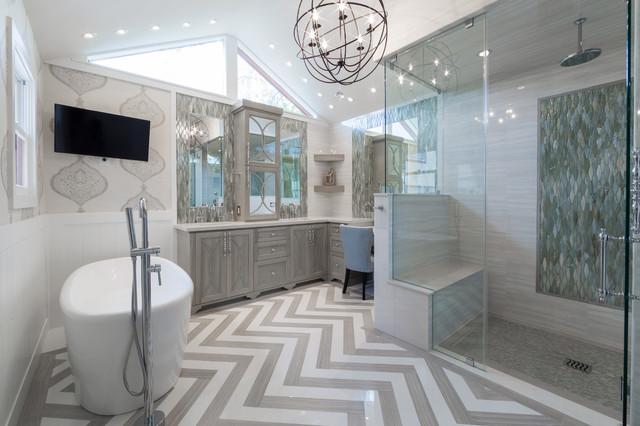 Rice university houston tx spacious luxurious spa for Bathroom interior design houston