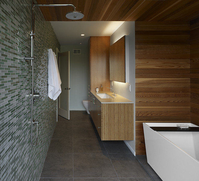 Rich Material Pallette Modern Bathroom Other By At6 Architecture Design Build