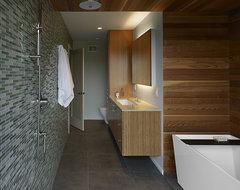 Rich material pallette modern-bathroom
