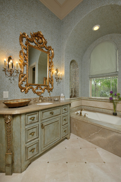 Richmond Estate Mediterranean Bathroom Houston By
