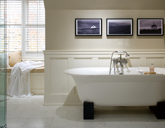 Richmond hill home traditional bathroom toronto by for Wainscoting bathroom ideas