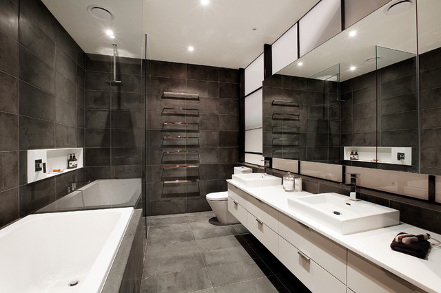 Richmond Warehouse Conversion - Industrial - Bathroom - Melbourne - by K+ARchitects