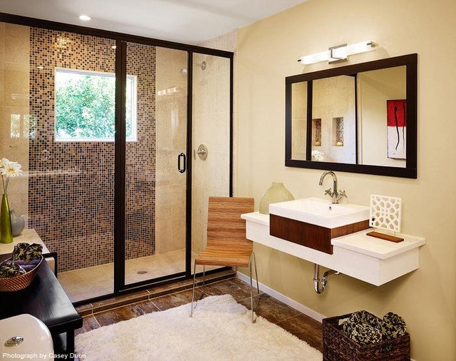 Ridge Oak Residence modern-bathroom