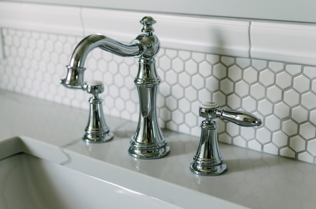 Inspiration for a transitional bathroom remodel in Cleveland