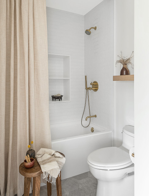 Shower Curtain Or Door, Window Covering For Bathroom Shower