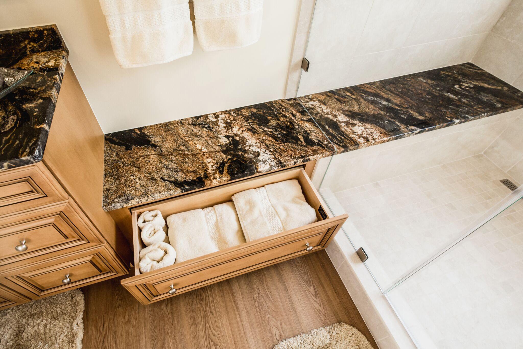 River House Granite Bench Drawer
