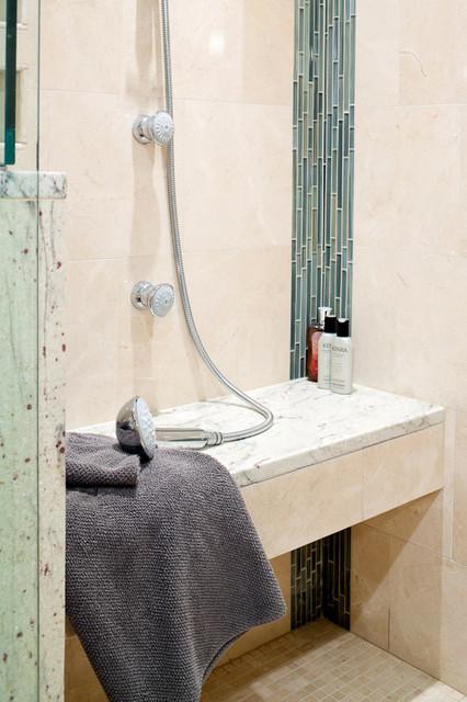 River White Granite Vanity modern-bathroom