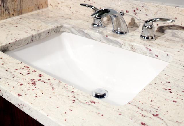 River White Granite Vanity Modern Bathroom Boston