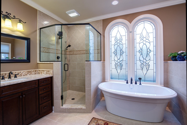 Riverchase master bath lovette construction traditional for Bathroom builders birmingham