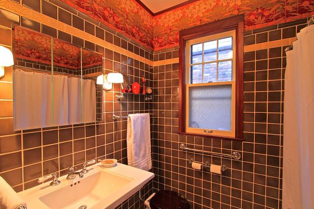 Riverdale ny tudor style house traditional bathroom for Tudor bathroom design