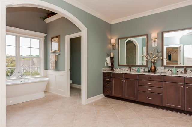Riverwalk Gold Parade Home built by Homes by Dickerson transitional-bathroom