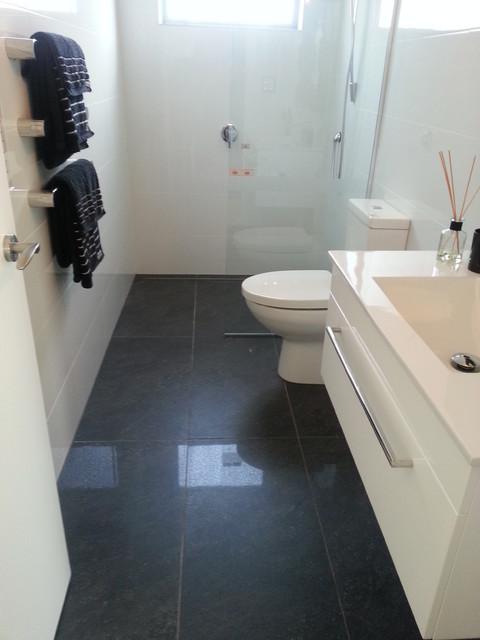 Riviera Anthracite U0026 Easy White Gloss Bathroom   1 Lombardia Way, Karaka  Contemporary Bathroom