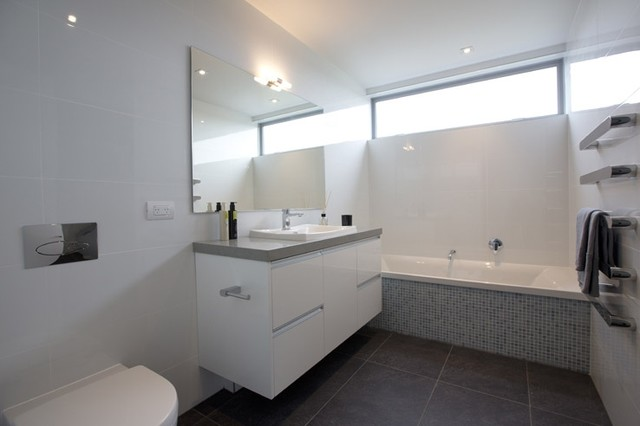 Riviera anthracite easy white gloss bathroom 1 lombardia way karaka Bathroom tiles ideas nz