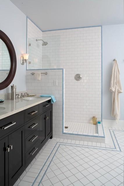 Roanoke 4 Square traditional-bathroom