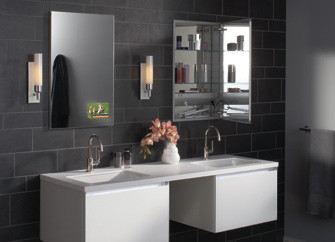 Robern: M Series With TViD Contemporary Bathroom