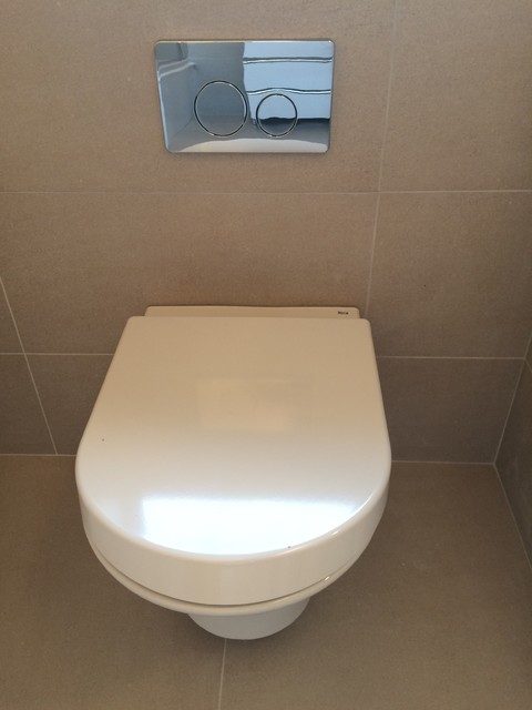 Roca Bathroom Suite With Feature Tiles Modern Bathroom South West By K And B Installations